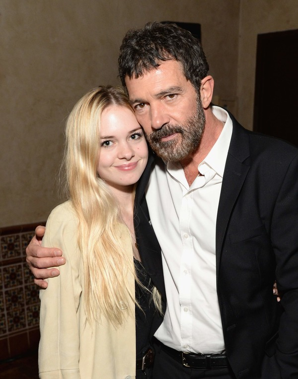 Stella Banderas with her father Antonio Banderas