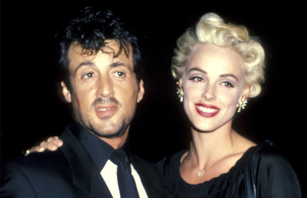 Sylvester Stallone with his second wife Brigitte Nielsen
