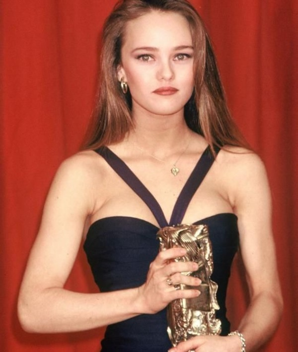 Young Vanessa Paradis with Cesar award