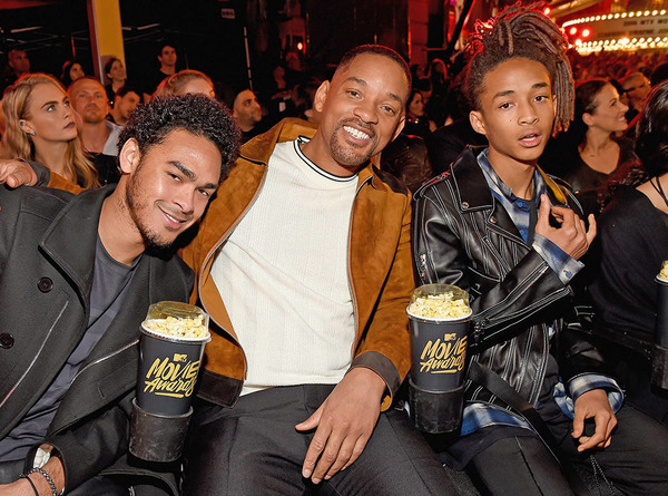 Will Smith with his sons Trey and Jaden