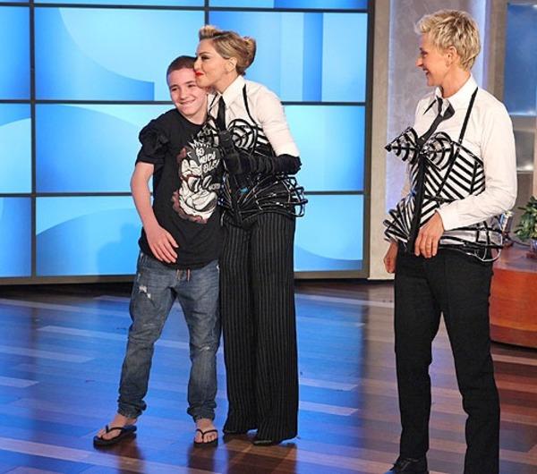 Rocco Ritchie, Madonna and Ellen DeGeneres
