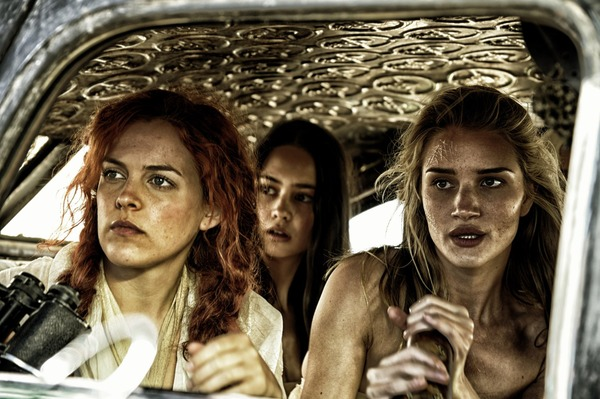 Riley Keough, Rosie Huntington-Whiteley, and Courtney Eaton in Mad Max