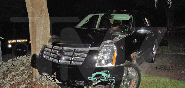 Tiger Woods car crash in November 2009