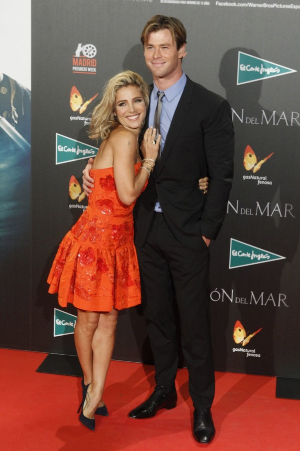 Chris Hemsworth with his wife Elsa Pataky