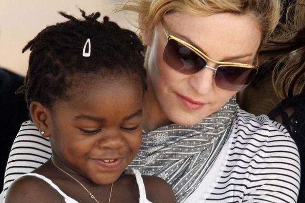 Mercy James with her mother Madonna