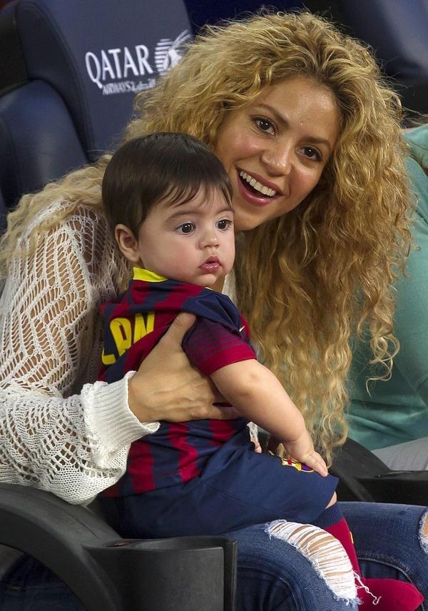 Shakira with her son Milan Piqué Mebarak
