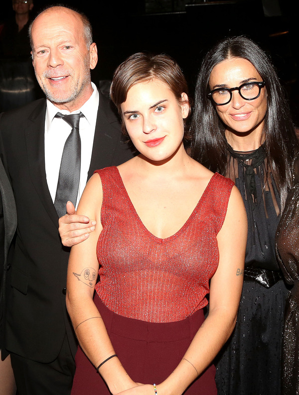 Tallulah Willis with her parents Bruce Willis and Demi Moore