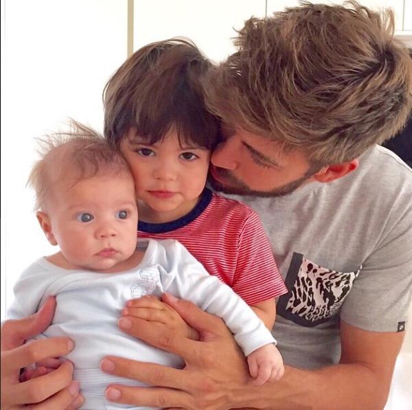 Gerard Piqué and his sons Milan and Sasha