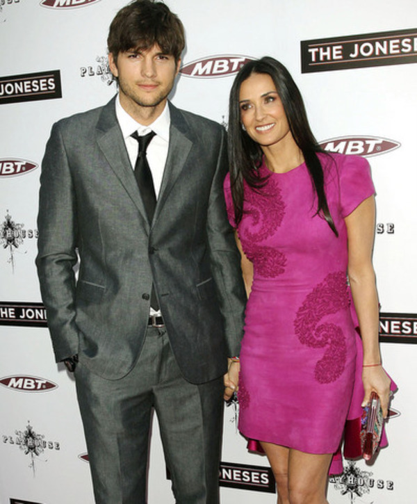 Ashton Kutcher and Demi Moore divorced in 2013