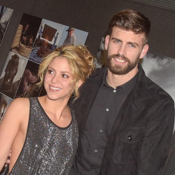 Gerard Piqué and his future wife Shakira