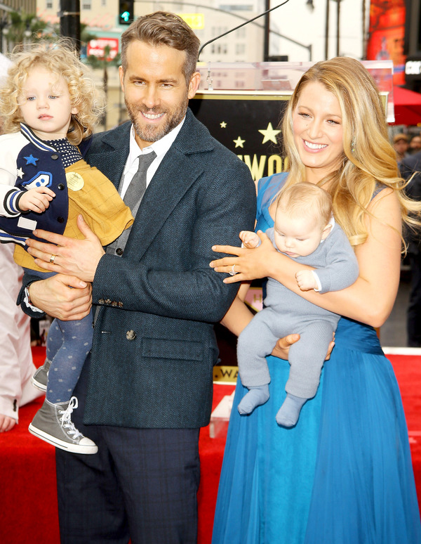 Blake Lively, her husband  Ryan Reynolds and their daughters