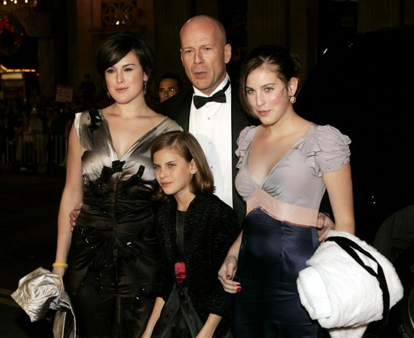 Bruce Willis daughters Rumer, Scout and Tallulah