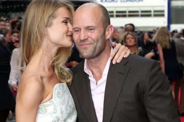 "Jason Statham wife Rosie Huntington-Whiteley: ""We get drunk and swim in the pool"""