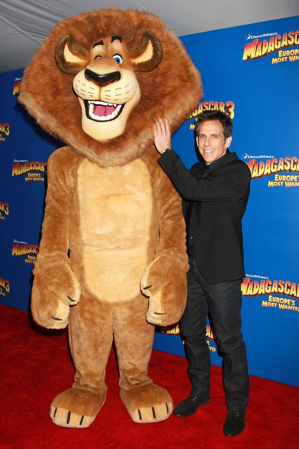 Ben Stiller with his Madagascar hero Alex