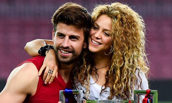 Shakira and a husband Gerard Piqué