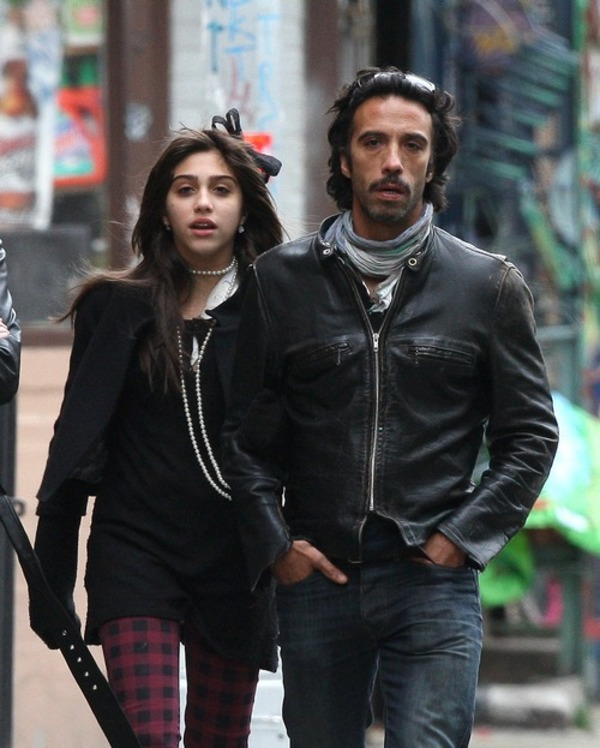 Lourdes Leon with her father Carlos Leon