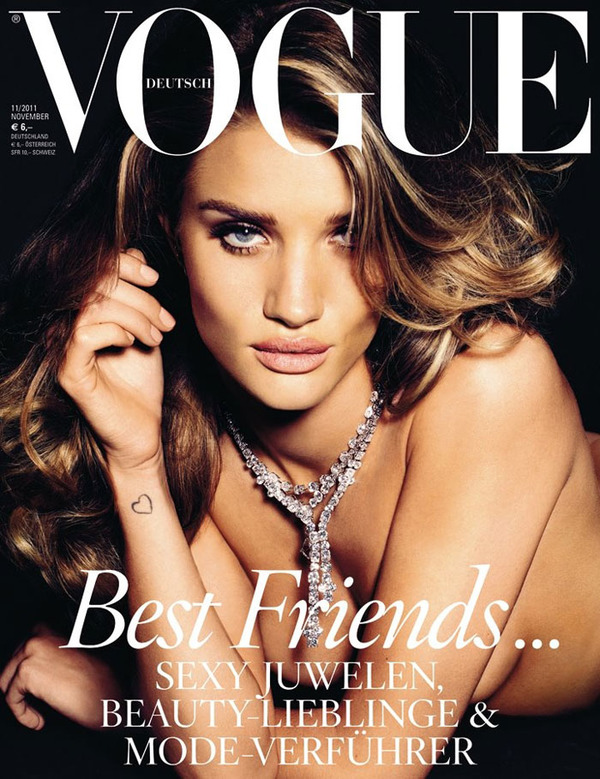 Rosie Huntington-Whiteley Vogue cover