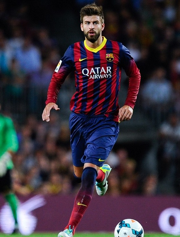 Gerard Piqué plays for Barcelona