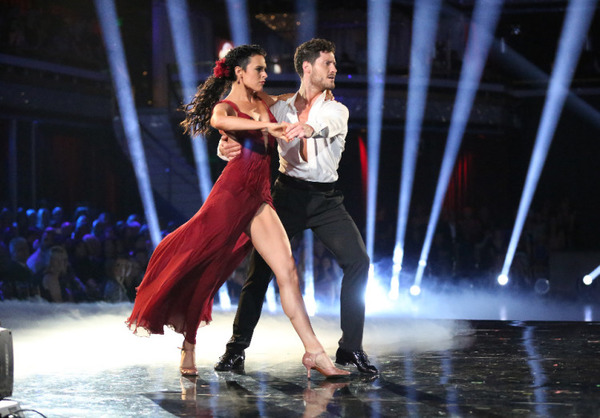 Rumer Willis and Val Chmerkovskiy in DWTS