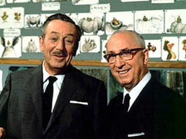 Walt Disney and his brother Roy Disney