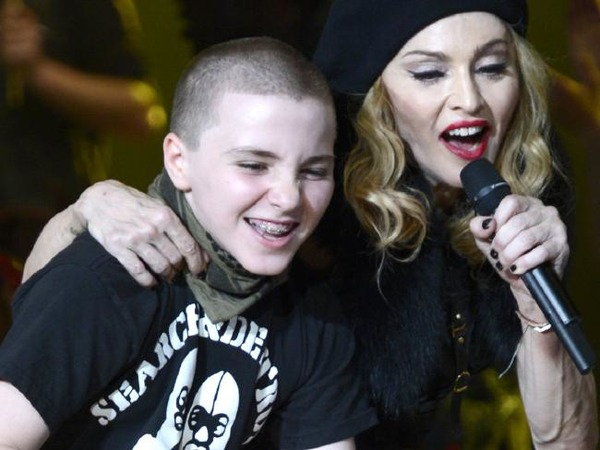 Rocco Ritchie and his mother Madonna