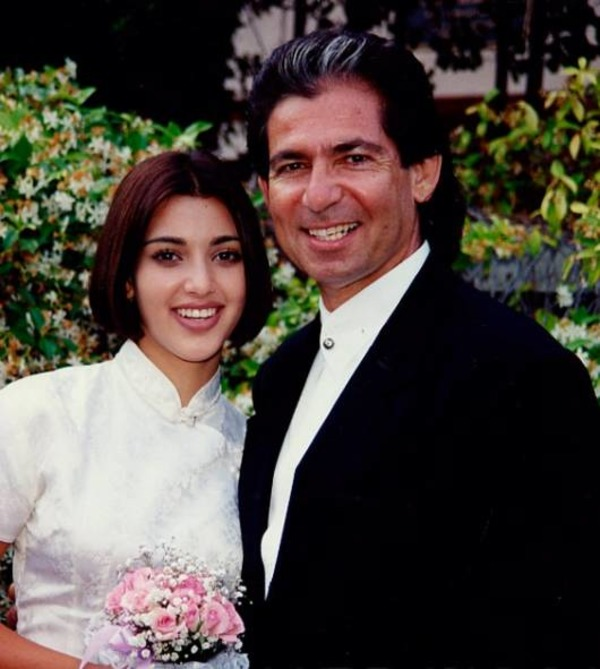 Kim Kardashian and her father Robert Kardashian
