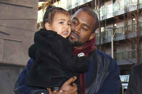 North West with her father Kanye West