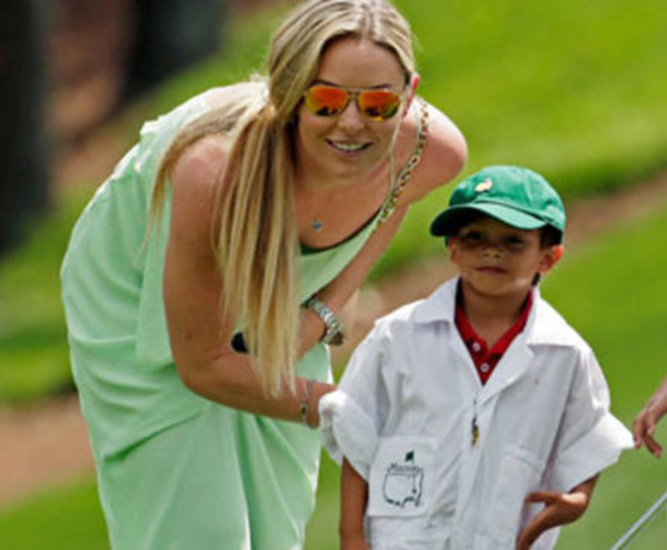Tiger Woods son Charlie with his ex-girlfriend Lindsey Vonn