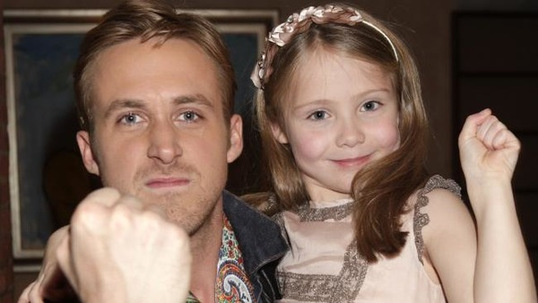 Ryan Gosling with his elder daughter Esmeralda