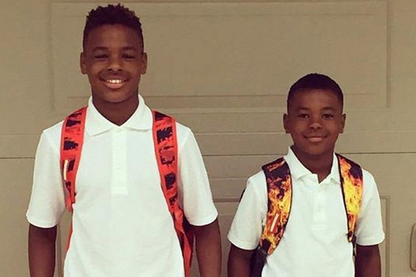 LeBron James sons LeBron James Jr. and Bryce Maximus James