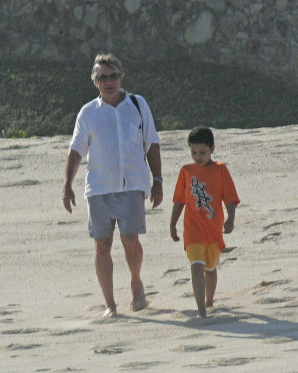 Robert De Niro with his autistic son Elliot De Niro