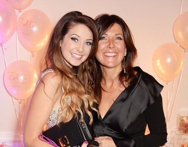 Zoella with her mother