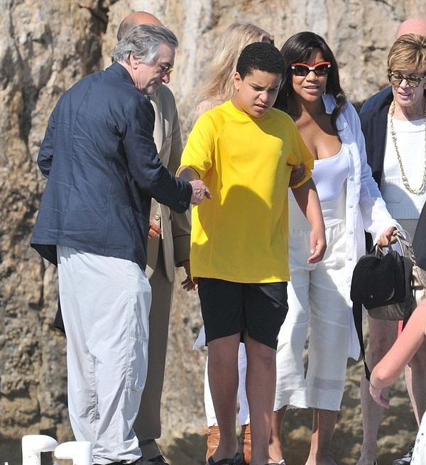 Robert De Niro with his autistic son Elliot De Niro and wife Grace Hightower
