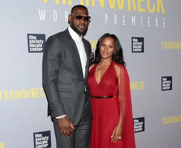 Savannah Bryson James with her husband LeBron James