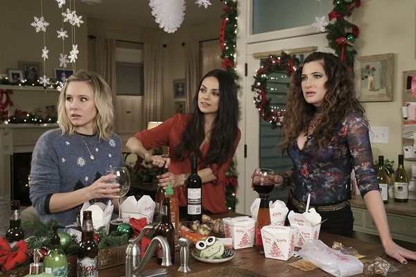 Mila Kunis, Kristen Bell, and Kathryn Hahn in A Bad Moms Christmas