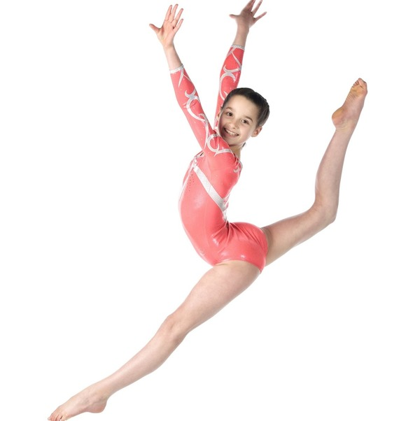 Annie LeBlanc as a gymnast