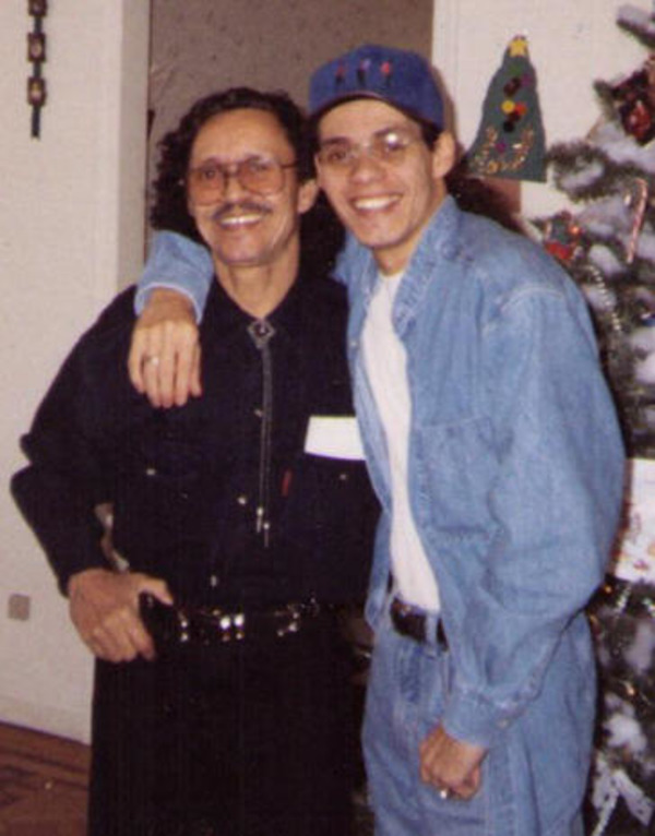 Marc Anthony and his father Felipe Muniz