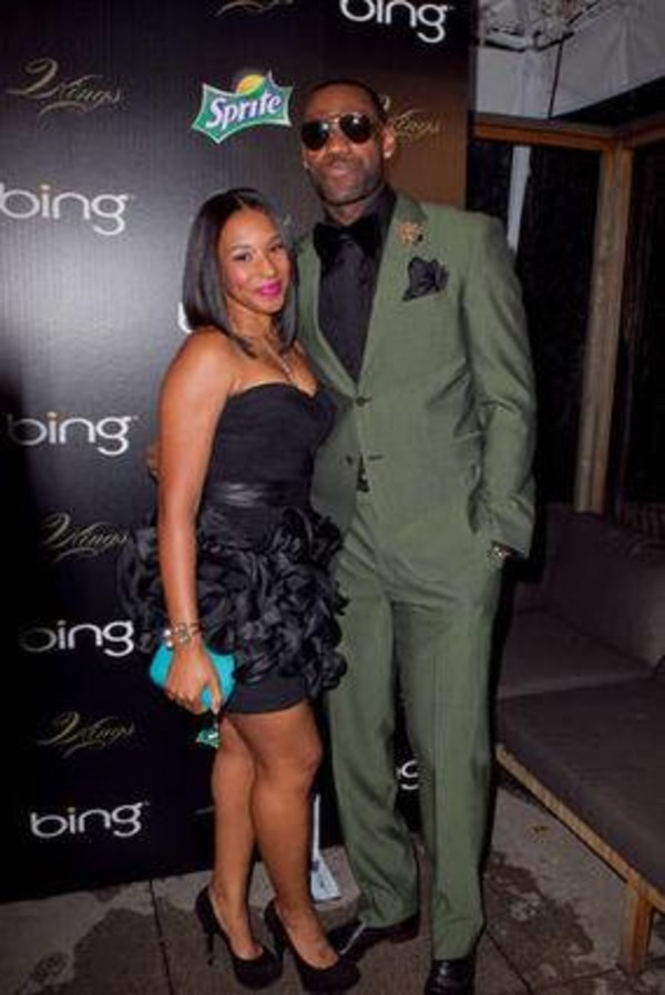 LeBron James with his wife Savannah Brinson