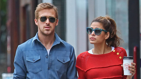 Ryan Gosling with his rumored wife Eva Mendes