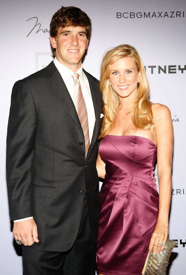 Eli Manning and his wife Abby Mcgrew