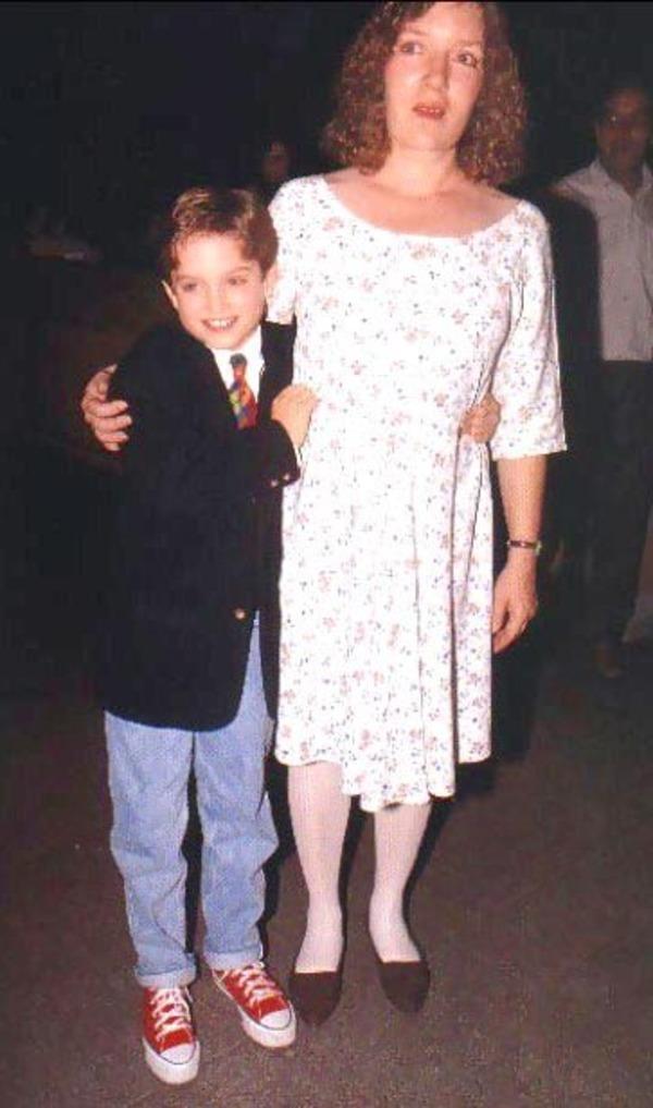 Elijah Wood and his mother Debbie Wood