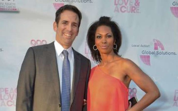 Harris Faulkner and her husband Tony Berlin