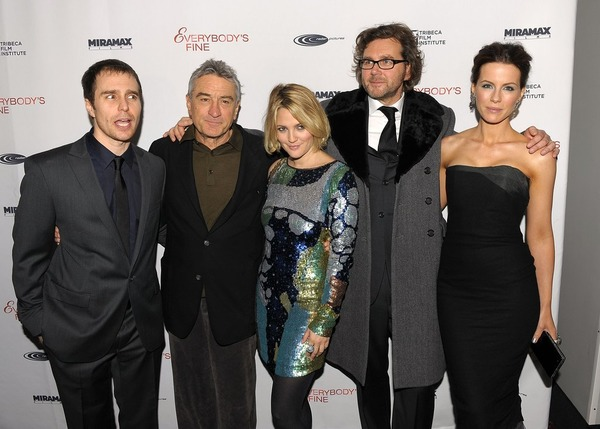Everybody's Fine cast: Sam Rockwell, Robert De Niro, Drew Barrymore, the film director Kirk Jones and Kate Beckinsale