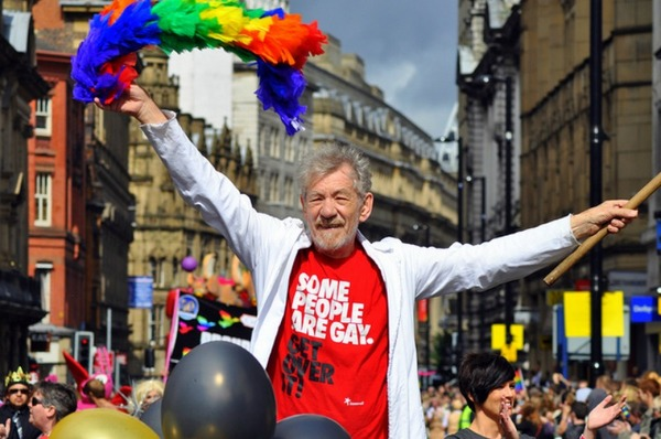 Ian McKellen at gay parade