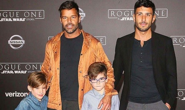 A famous gay Ricky Martin with his partner Jwan Yosef and kids
