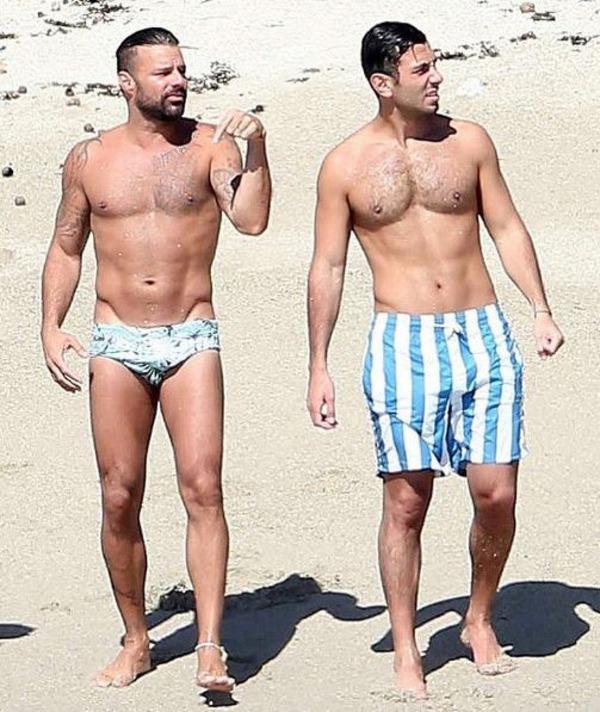 Ricky Martin and Jwan Yosef at vacation in Mexico