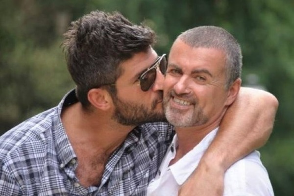 George Michael and his boyfriend Fadi Fawaz