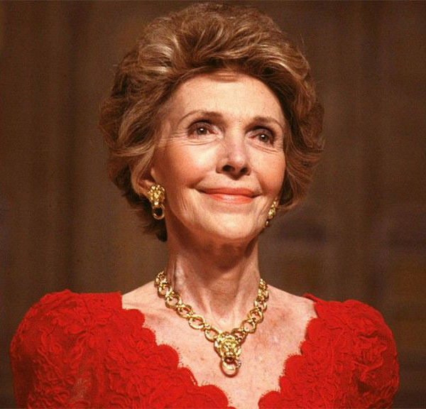 Nancy Reagan passed away in March, 2016