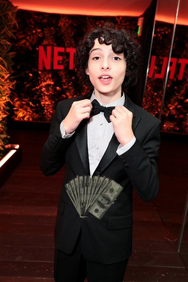 Finn Wolfhard makes cash acting in front of the cameras