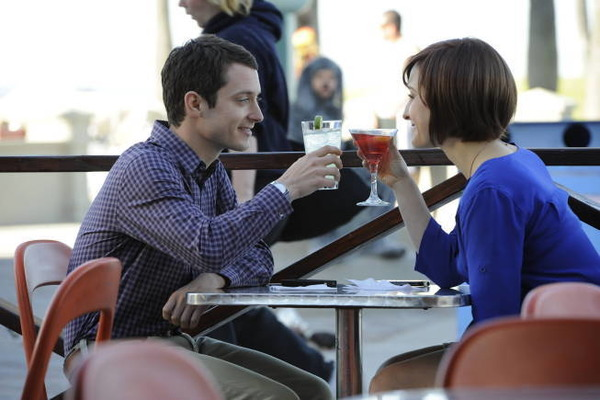 Elijah Wood and Allison Mack in Wilfred